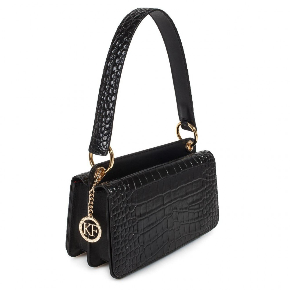 Жіноча шкіряна сумка-багет Baguette KF-3392