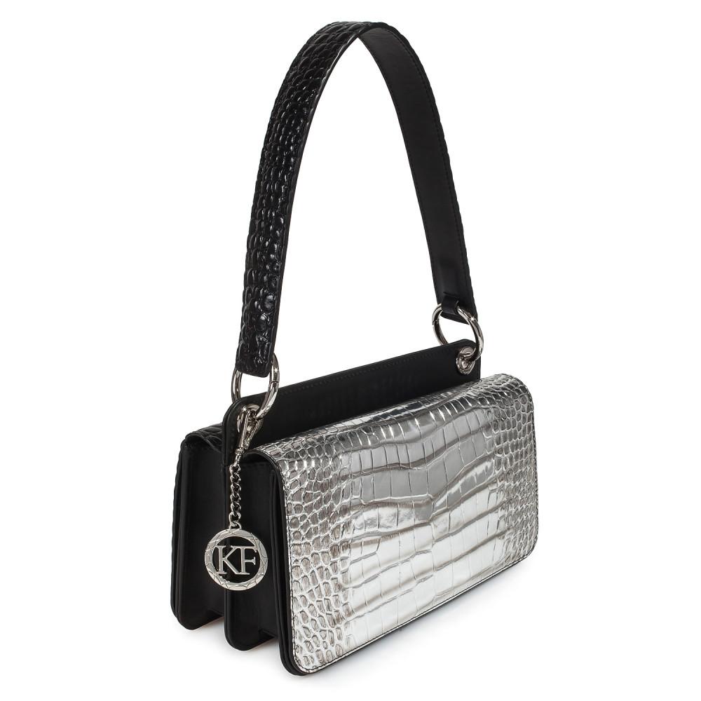 Women's leather bag Baguette KF-3431