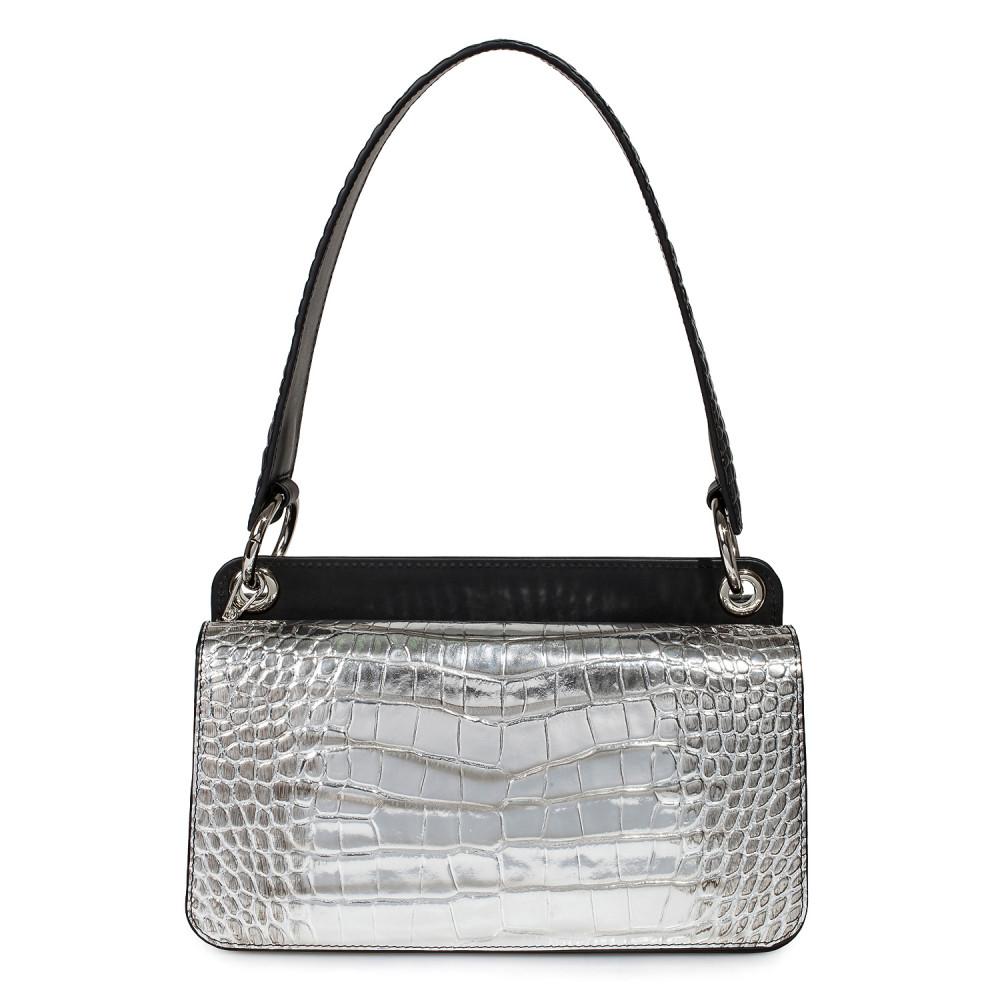 Жіноча шкіряна сумка-багет Baguette KF-3431-1