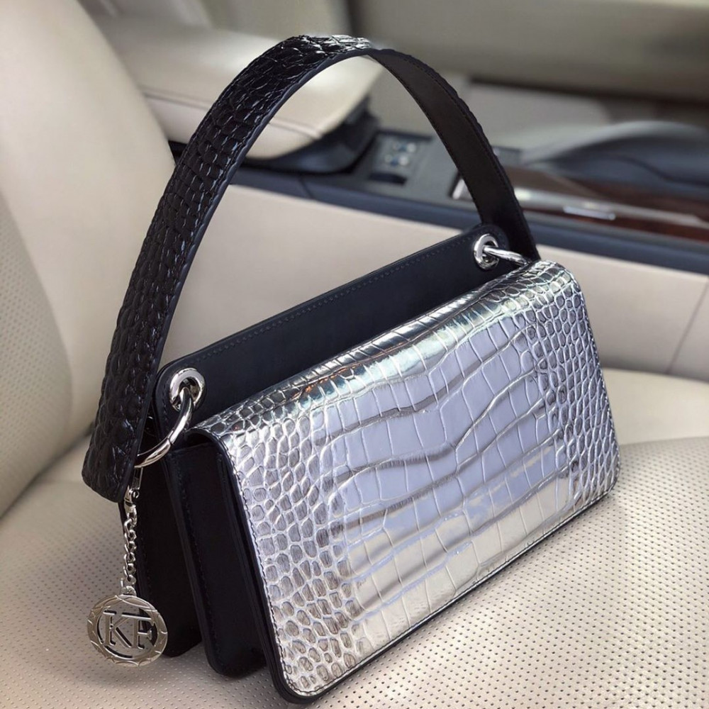 Жіноча шкіряна сумка-багет Baguette KF-3431-5