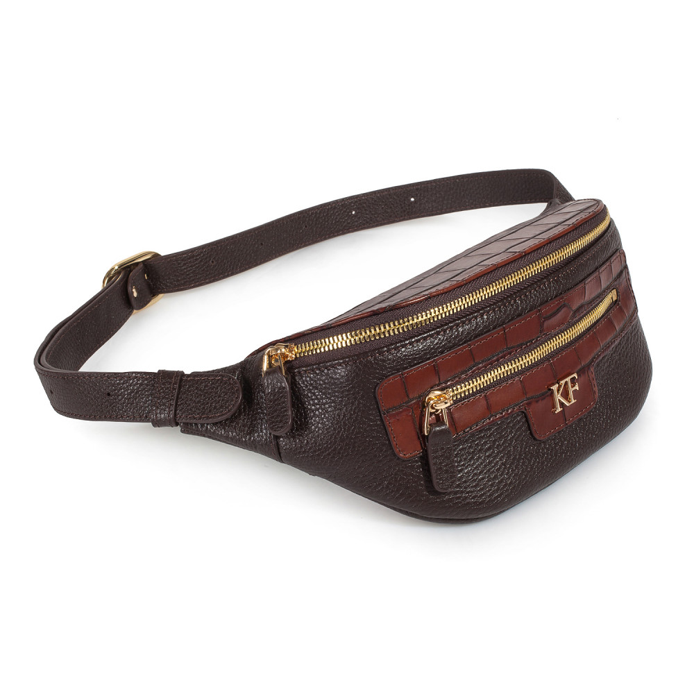 Жіноча шкіряна сумка на пояс Bananka KF-3444