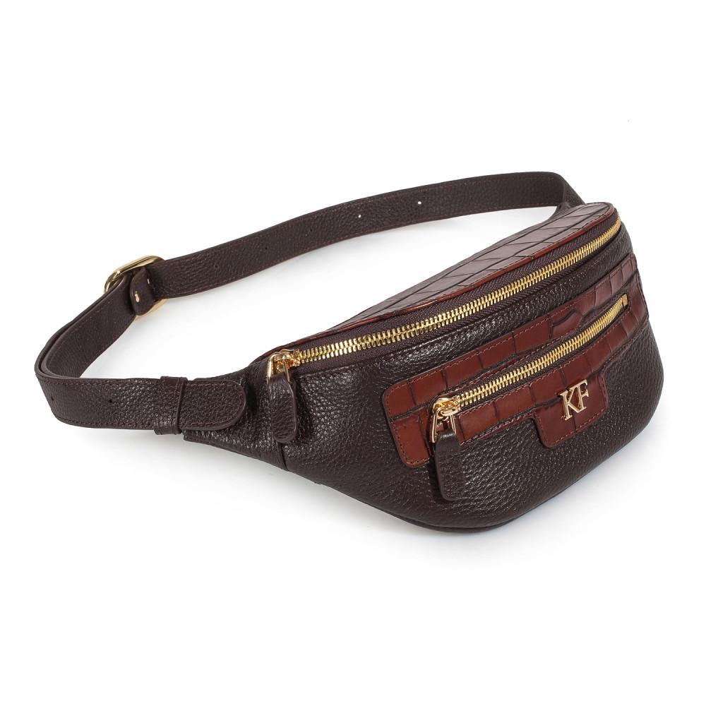 Women's leather belt Bananka bag KF-3444