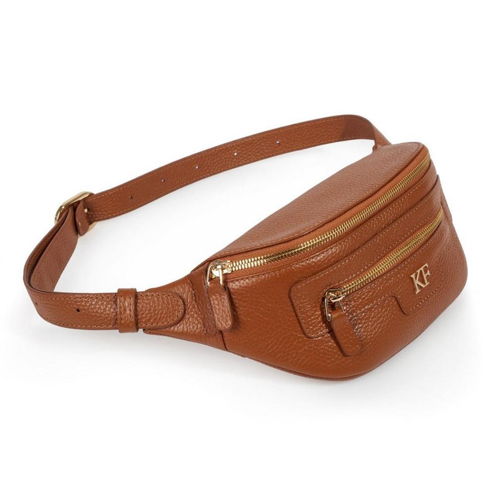 Жіноча шкіряна сумка на пояс Bananka KF-3445