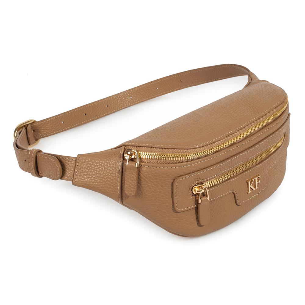 Жіноча шкіряна сумка на пояс Bananka KF-3459