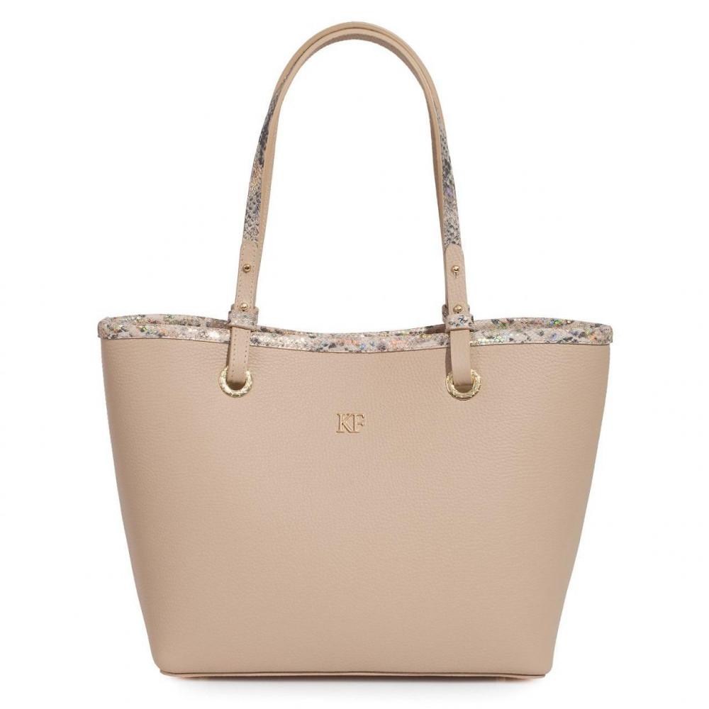 Жіноча шкіряна сумка Тоут Tina KF-3467