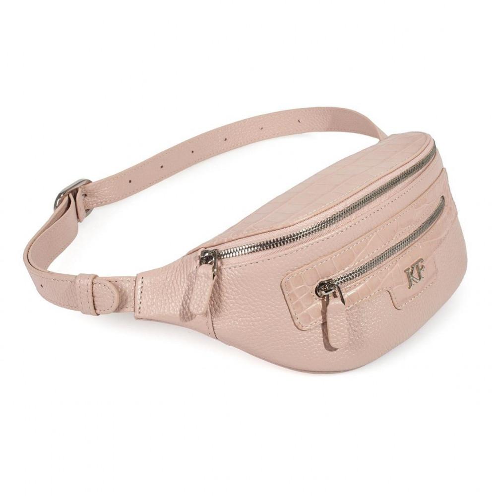 Women's leather belt Bananka bag KF-3474