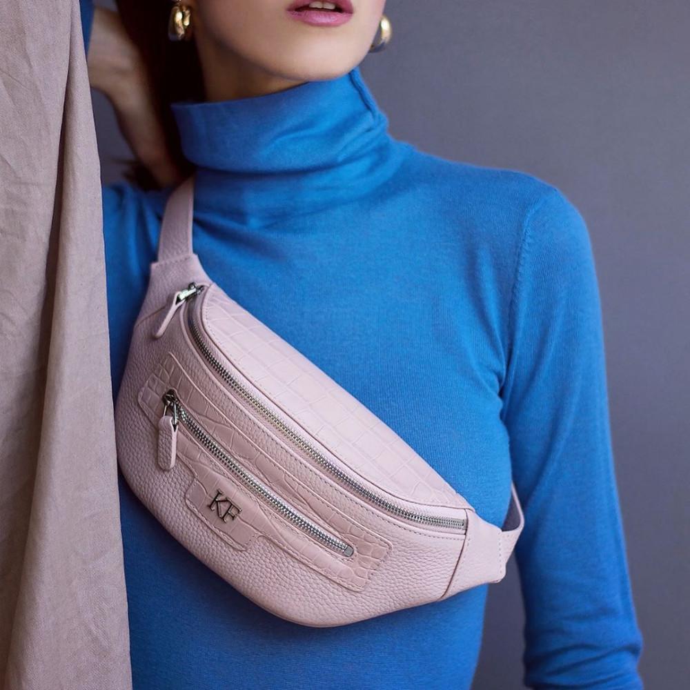 Жіноча шкіряна сумка на пояс Bananka KF-3474-4
