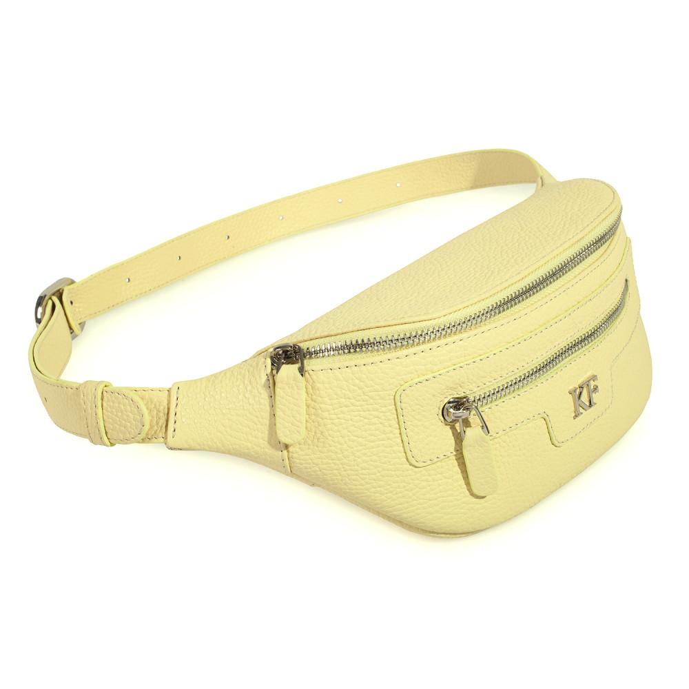 Women's leather belt Bananka bag KF-3501