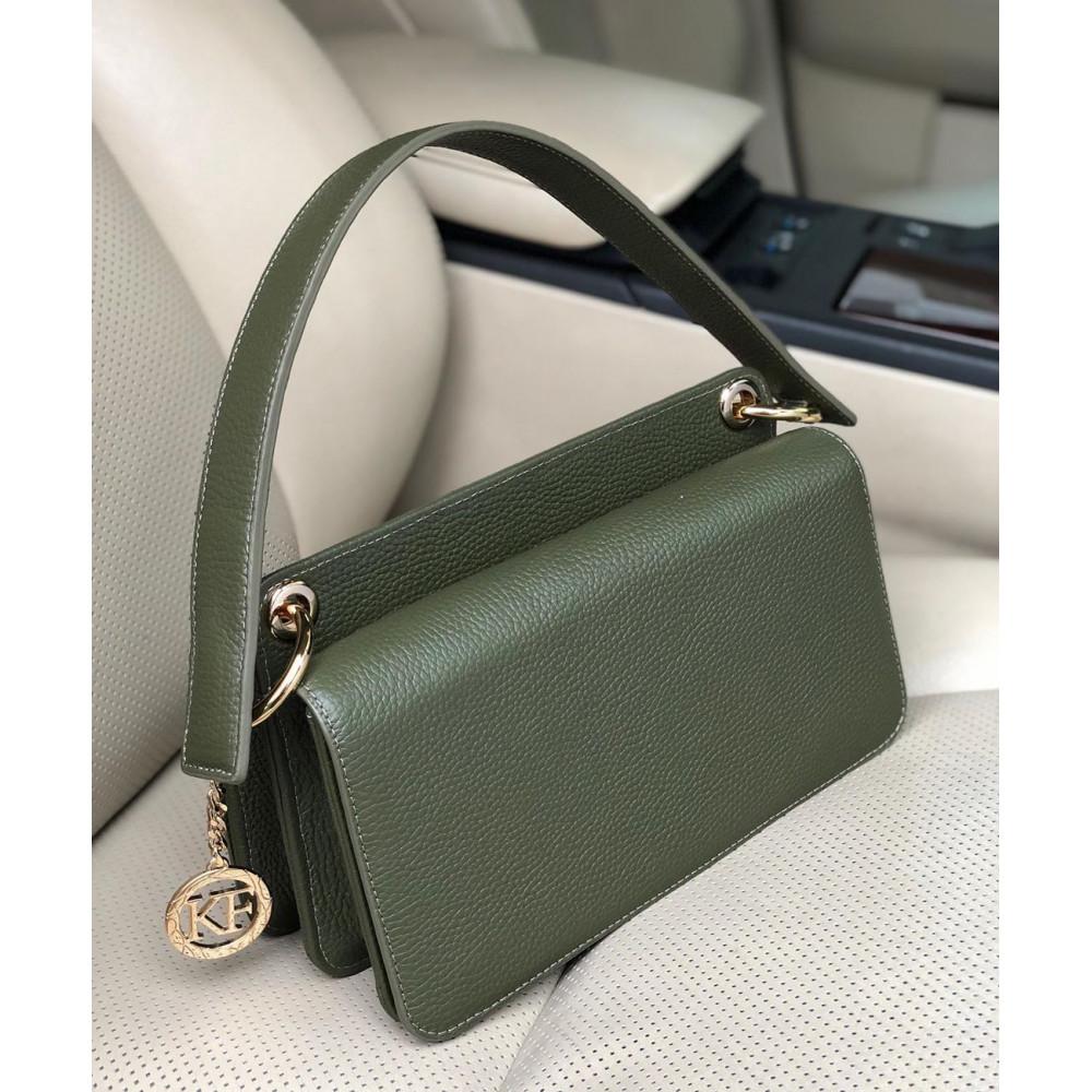 Women's leather bag Baguette KF-3521