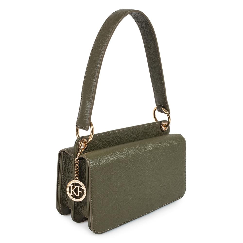Жіноча шкіряна сумка-багет Baguette KF-3521-1