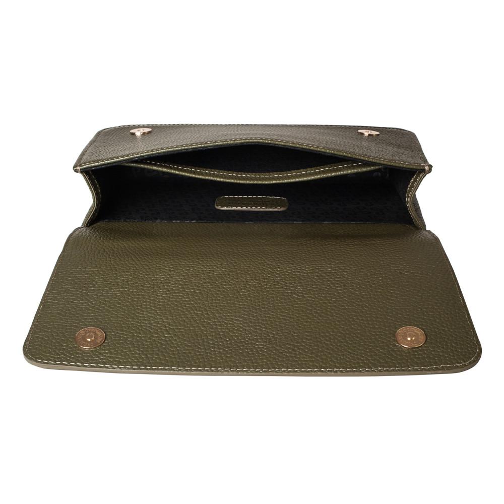 Жіноча шкіряна сумка-багет Baguette KF-3521-4