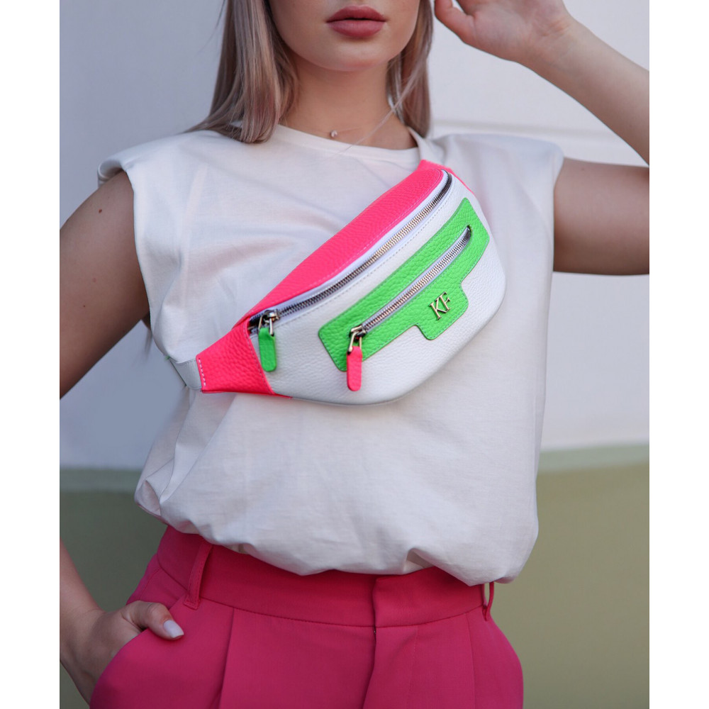 Women's leather belt Bananka bag KF-3550