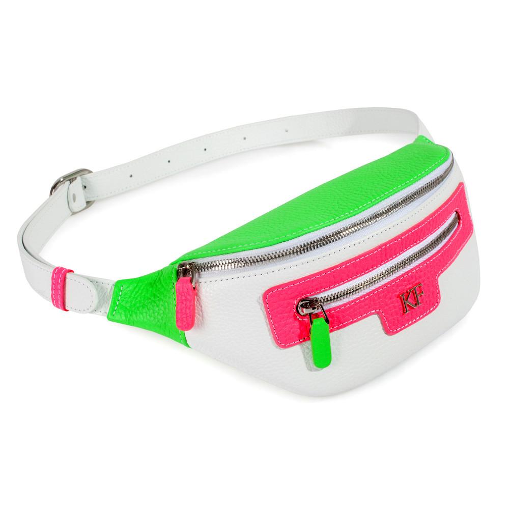 Women's leather belt Bananka bag KF-3551