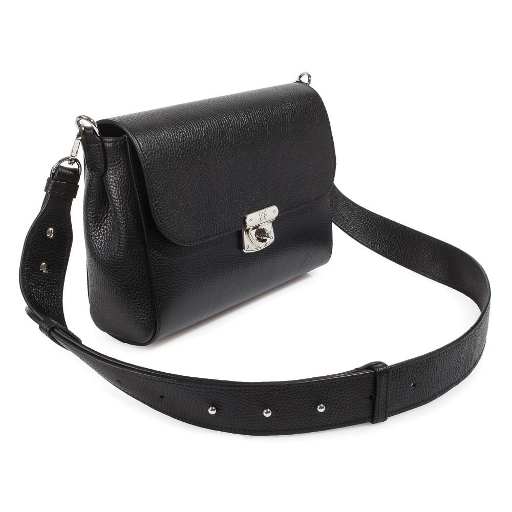 Жіноча шкіряна сумка кросс-боді на широкому ремені Prima M KF-3564-1
