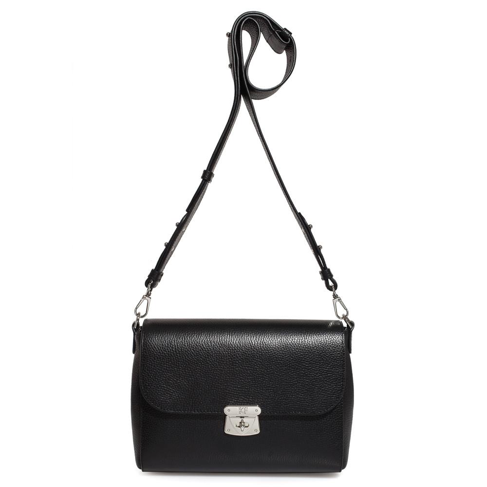 Жіноча шкіряна сумка кросс-боді на широкому ремені Prima M KF-3564-2