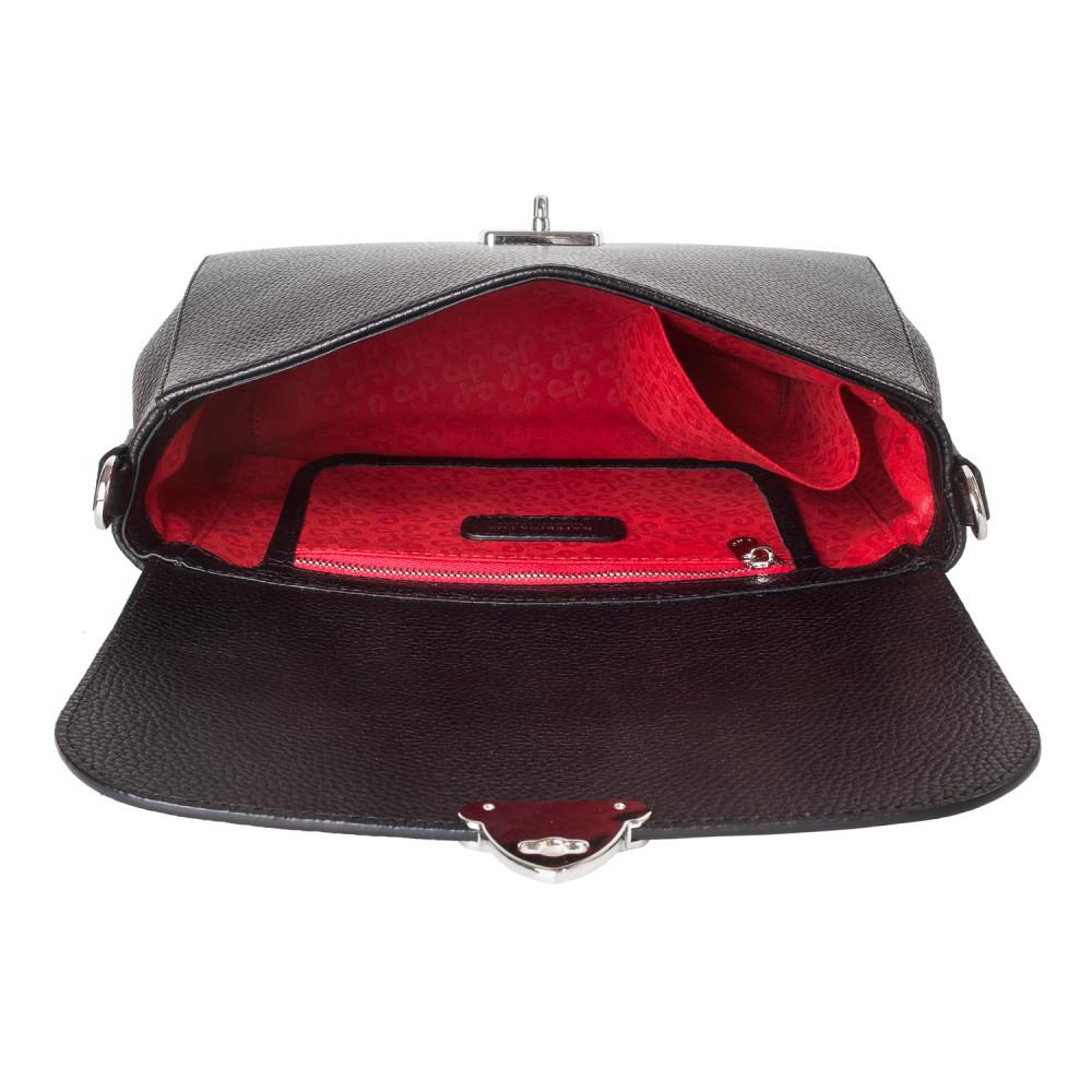 Жіноча шкіряна сумка кросс-боді на широкому ремені Prima M KF-3564-4