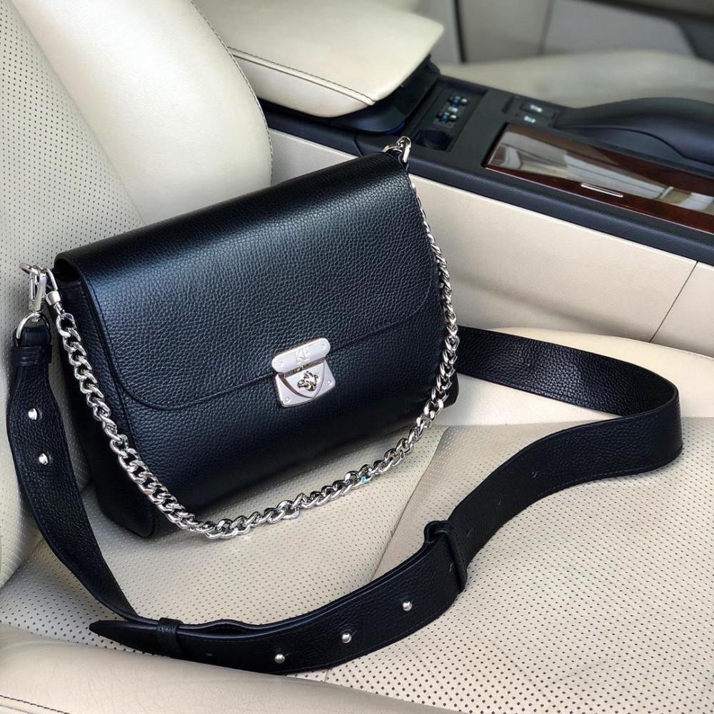 Жіноча шкіряна сумка кросс-боді на широкому ремені Prima M KF-3564-5