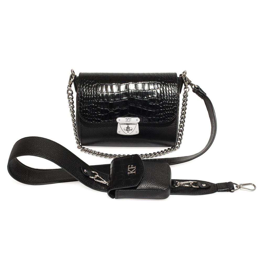 Жіноча шкіряна сумка кросс-боді на широкому ремені Prima Ann KF-3587-