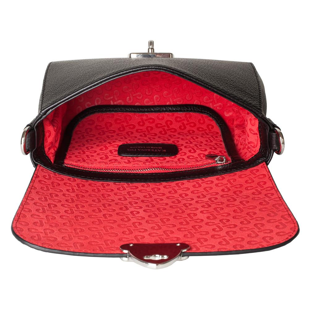 Жіноча шкіряна сумка кросс-боді на широкому ремені Prima Ann KF-3587-2