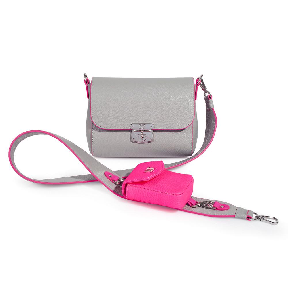 Жіноча шкіряна сумка кросс-боді на широкому ремені Prima Ann KF-3600
