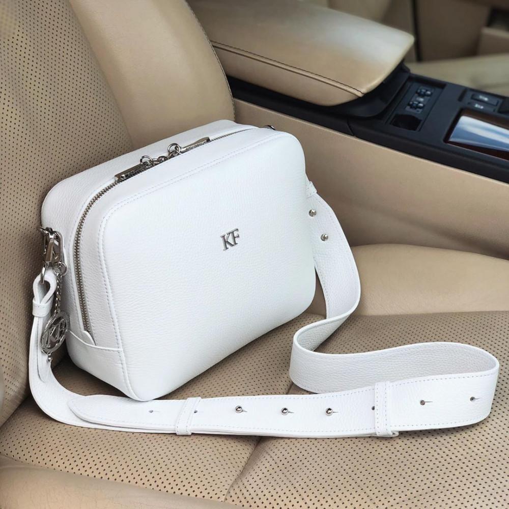 Жіноча шкіряна сумка кросс-боді на широкому ремені Tatiana M KF-3607