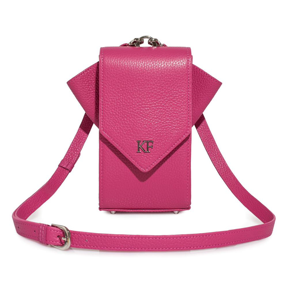 Жіноча шкіряна вертикальна сумка кросс-боді April KF-3613