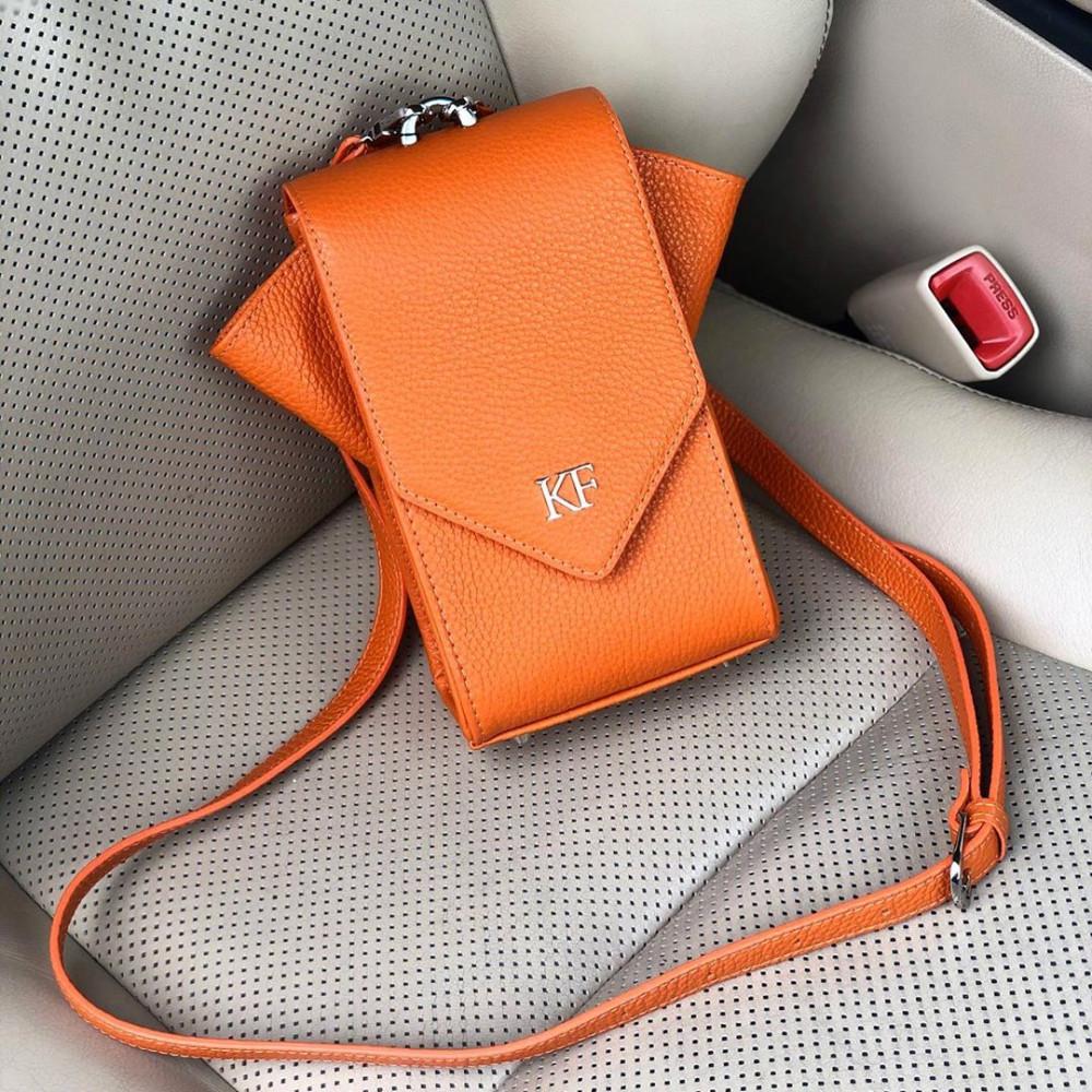 Жіноча шкіряна вертикальна сумка кросс-боді April KF-3620