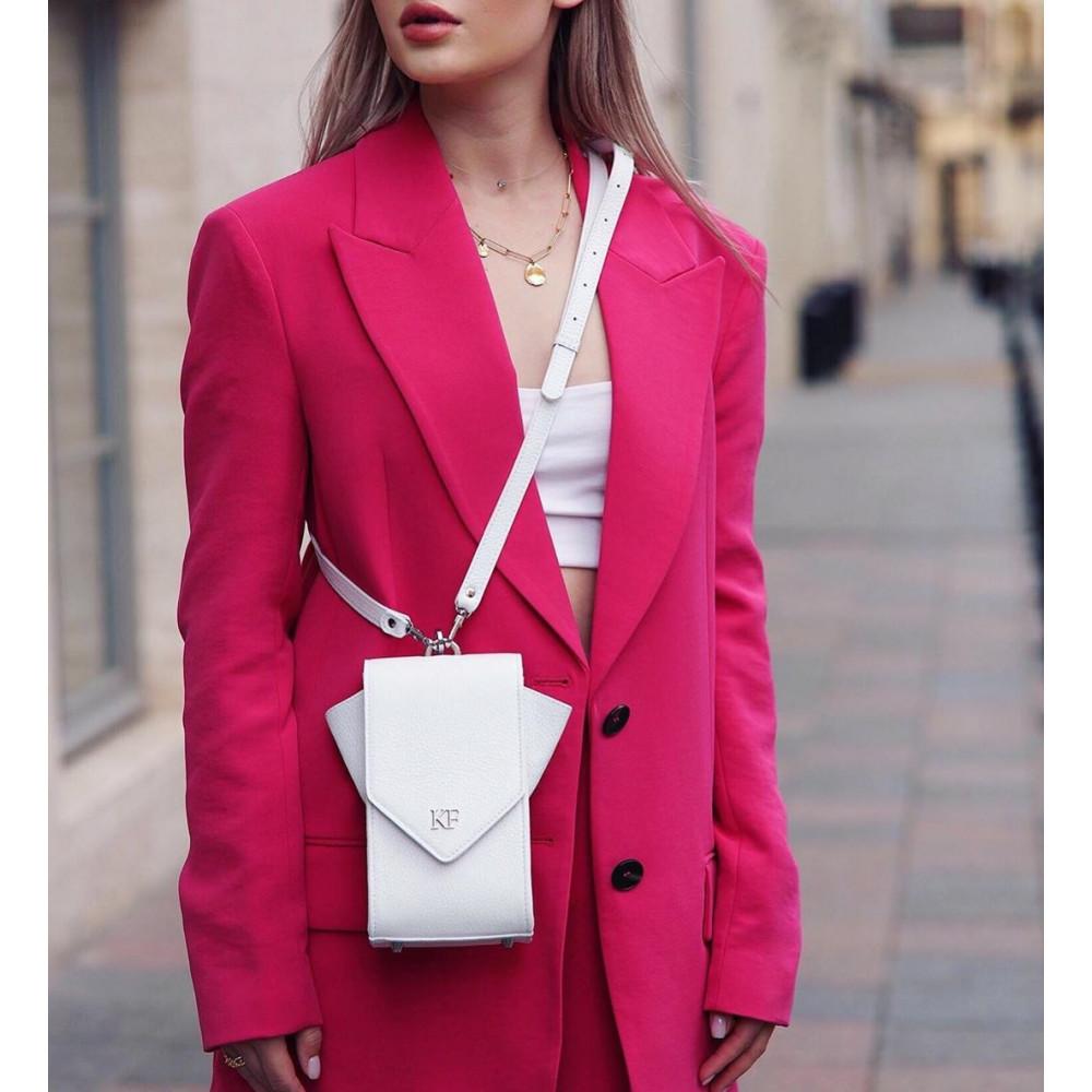 Жіноча шкіряна вертикальна сумка кросс-боді April KF-3632