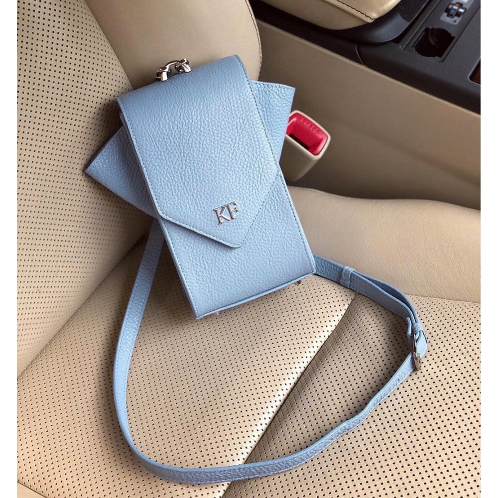 Жіноча шкіряна вертикальна сумка кросс-боді April KF-3634