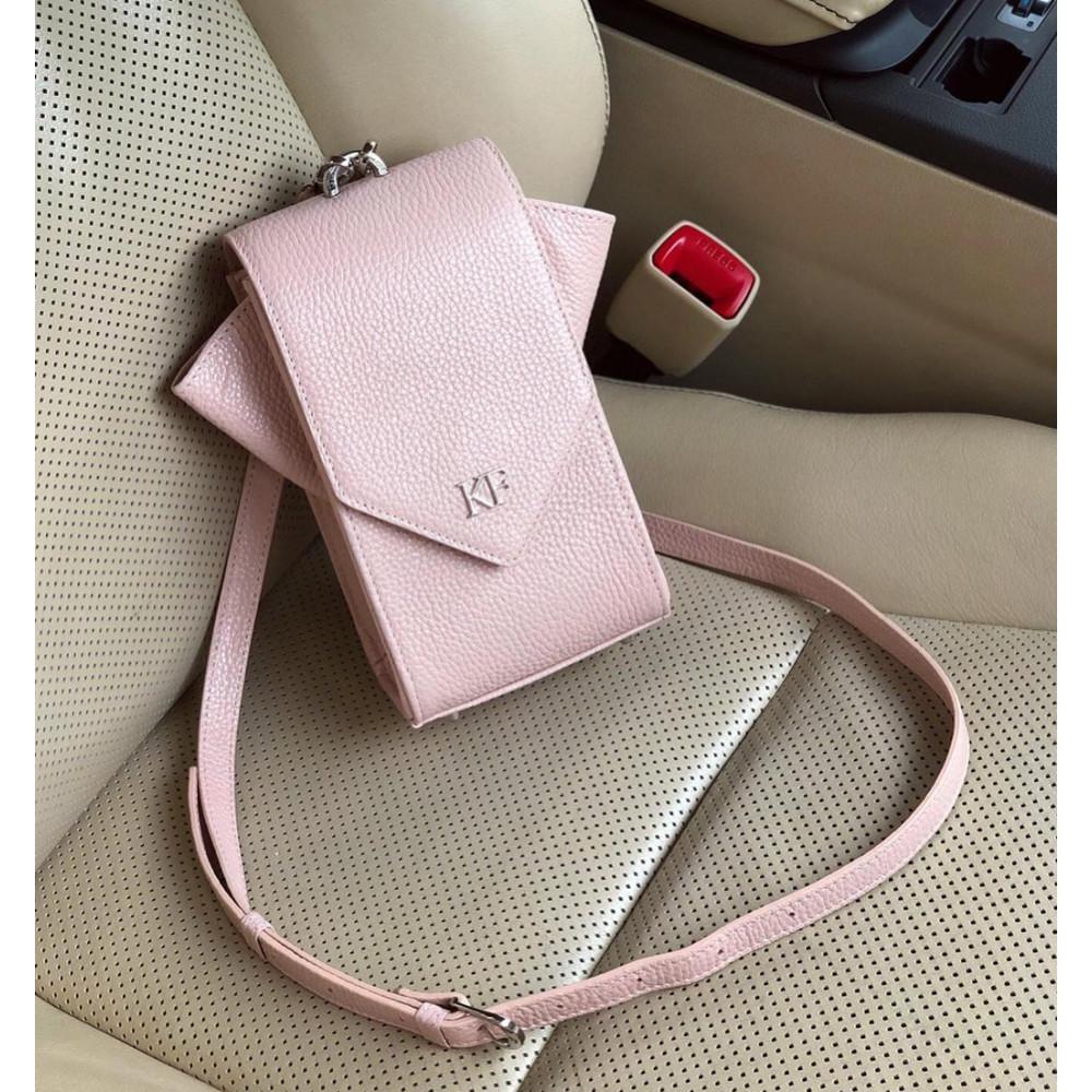 Жіноча шкіряна вертикальна сумка кросс-боді April KF-3637
