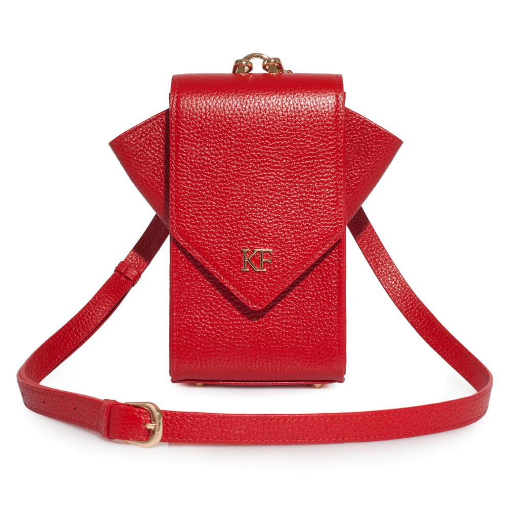 Жіноча шкіряна вертикальна сумка кросс-боді April KF-3638-1