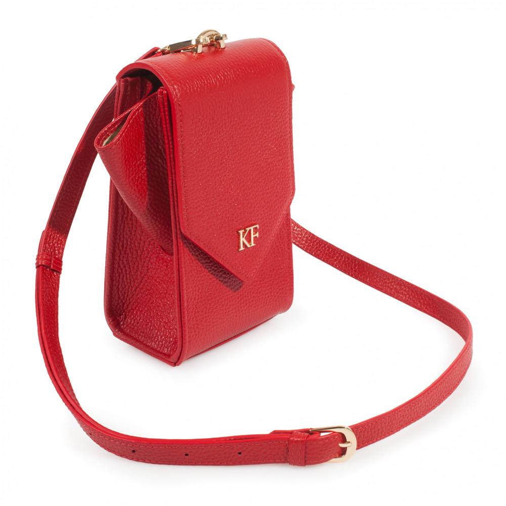 Жіноча шкіряна вертикальна сумка кросс-боді April KF-3638-2