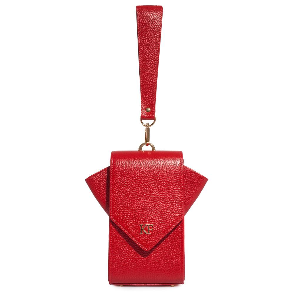 Жіноча шкіряна вертикальна сумка кросс-боді April KF-3638-3