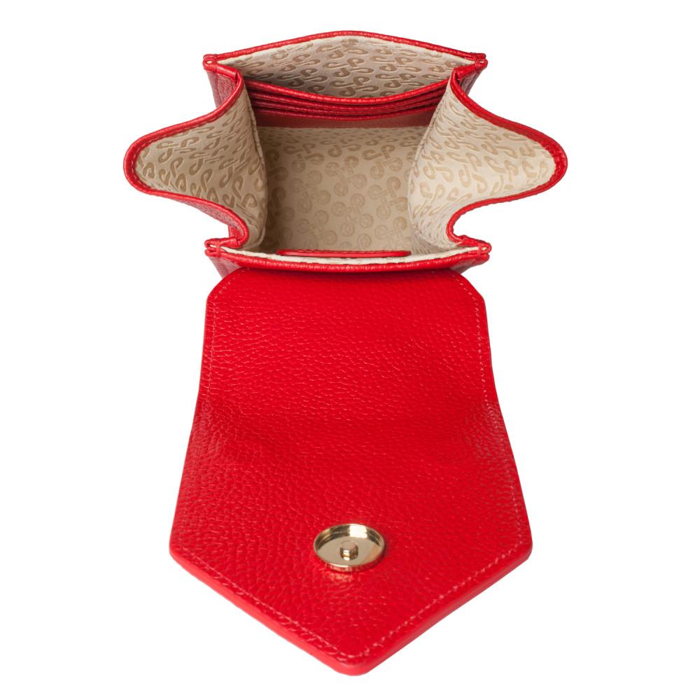 Жіноча шкіряна вертикальна сумка кросс-боді April KF-3638-5