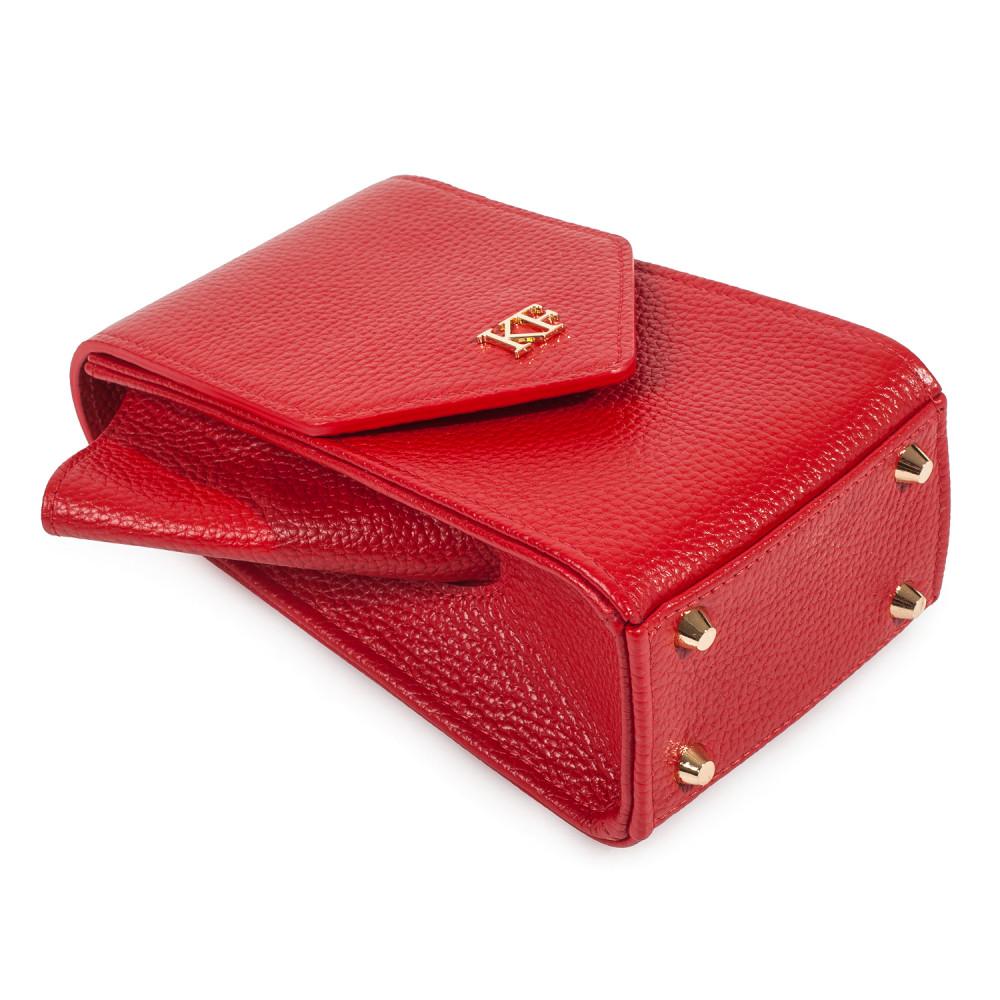 Жіноча шкіряна вертикальна сумка кросс-боді April KF-3638-6