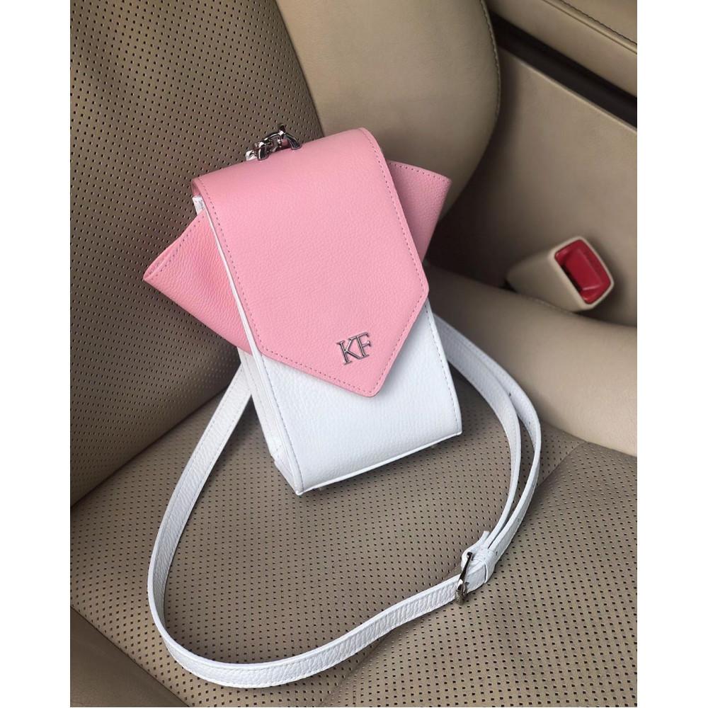 Жіноча шкіряна вертикальна сумка кросс-боді April KF-3639-