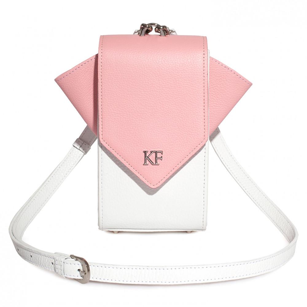Жіноча шкіряна вертикальна сумка кросс-боді April KF-3639-1