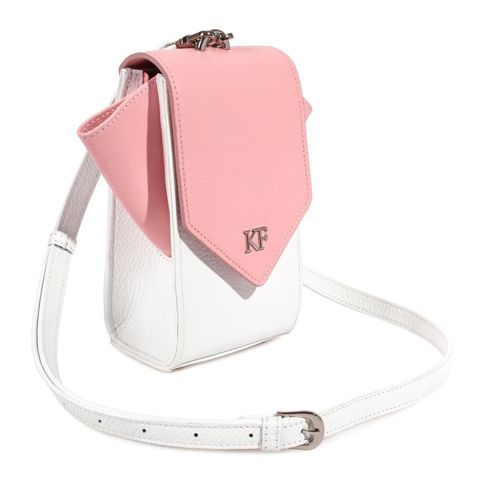 Жіноча шкіряна вертикальна сумка кросс-боді April KF-3639-2
