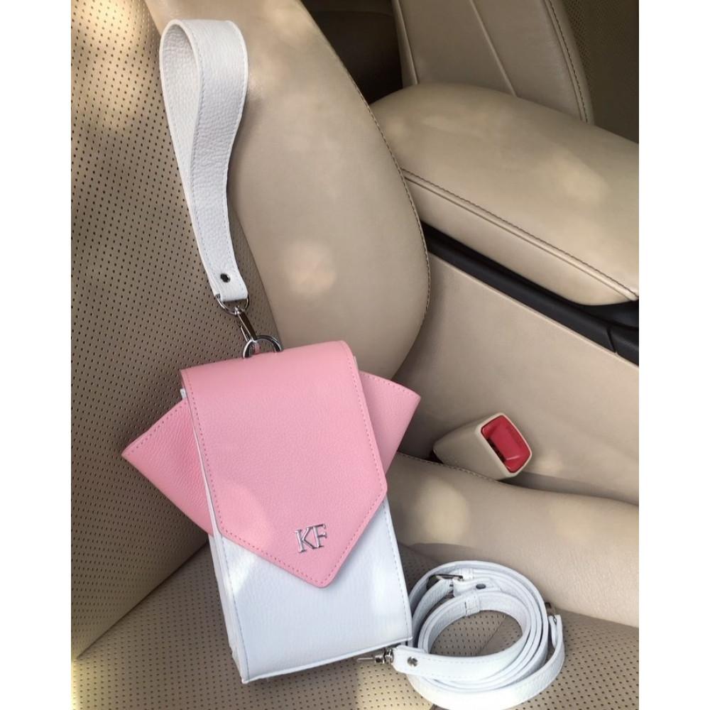 Жіноча шкіряна вертикальна сумка кросс-боді April KF-3639-7