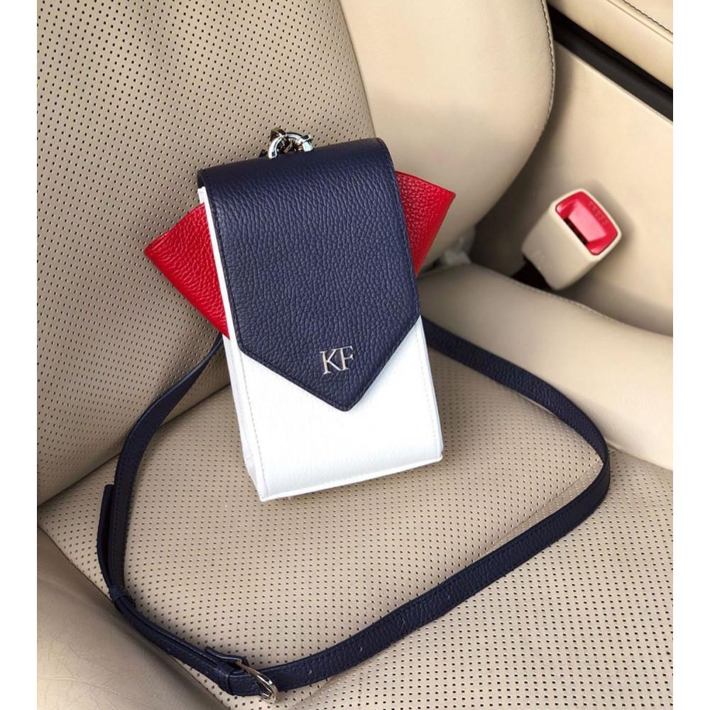 Жіноча шкіряна вертикальна сумка кросс-боді April KF-3640