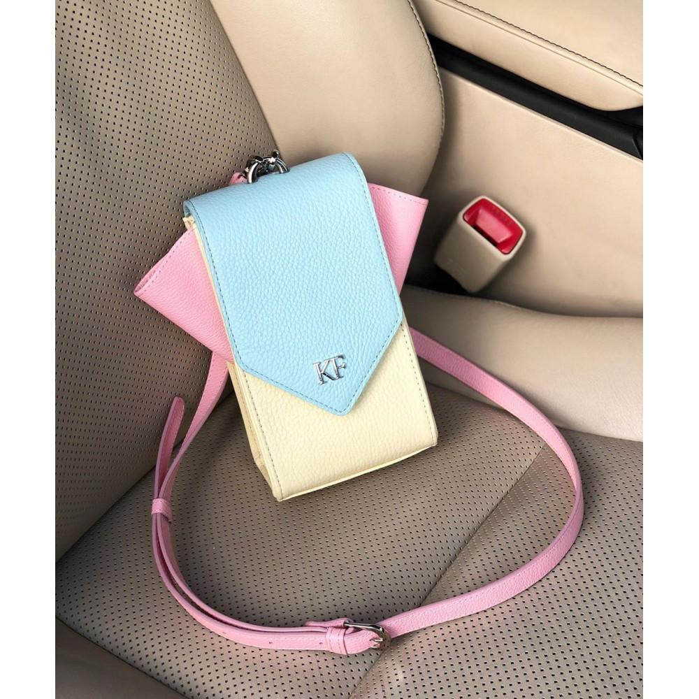 Жіноча шкіряна вертикальна сумка кросс-боді April KF-3641