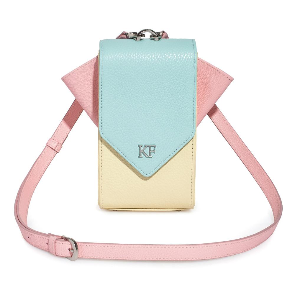 Жіноча шкіряна вертикальна сумка кросс-боді April KF-3641-1