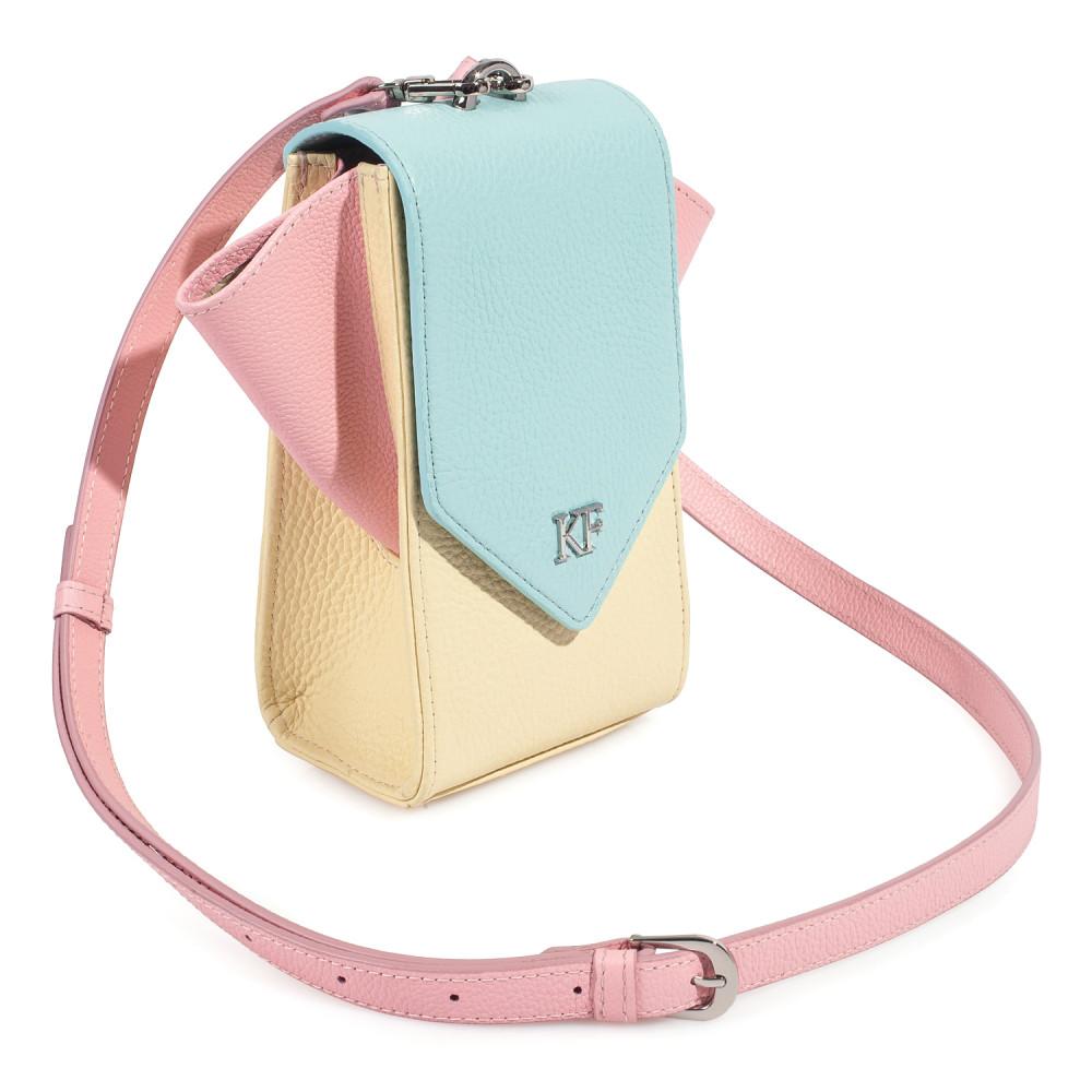 Жіноча шкіряна вертикальна сумка кросс-боді April KF-3641-2