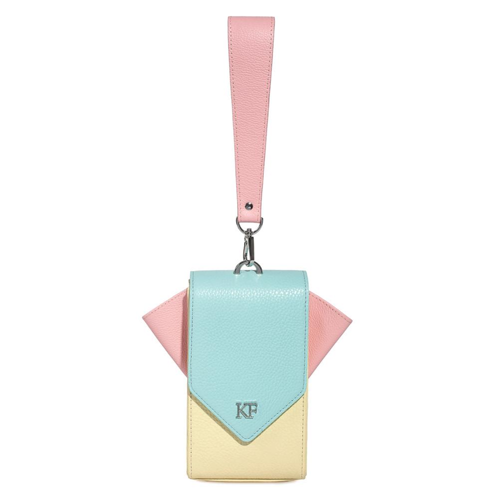 Жіноча шкіряна вертикальна сумка кросс-боді April KF-3641-3