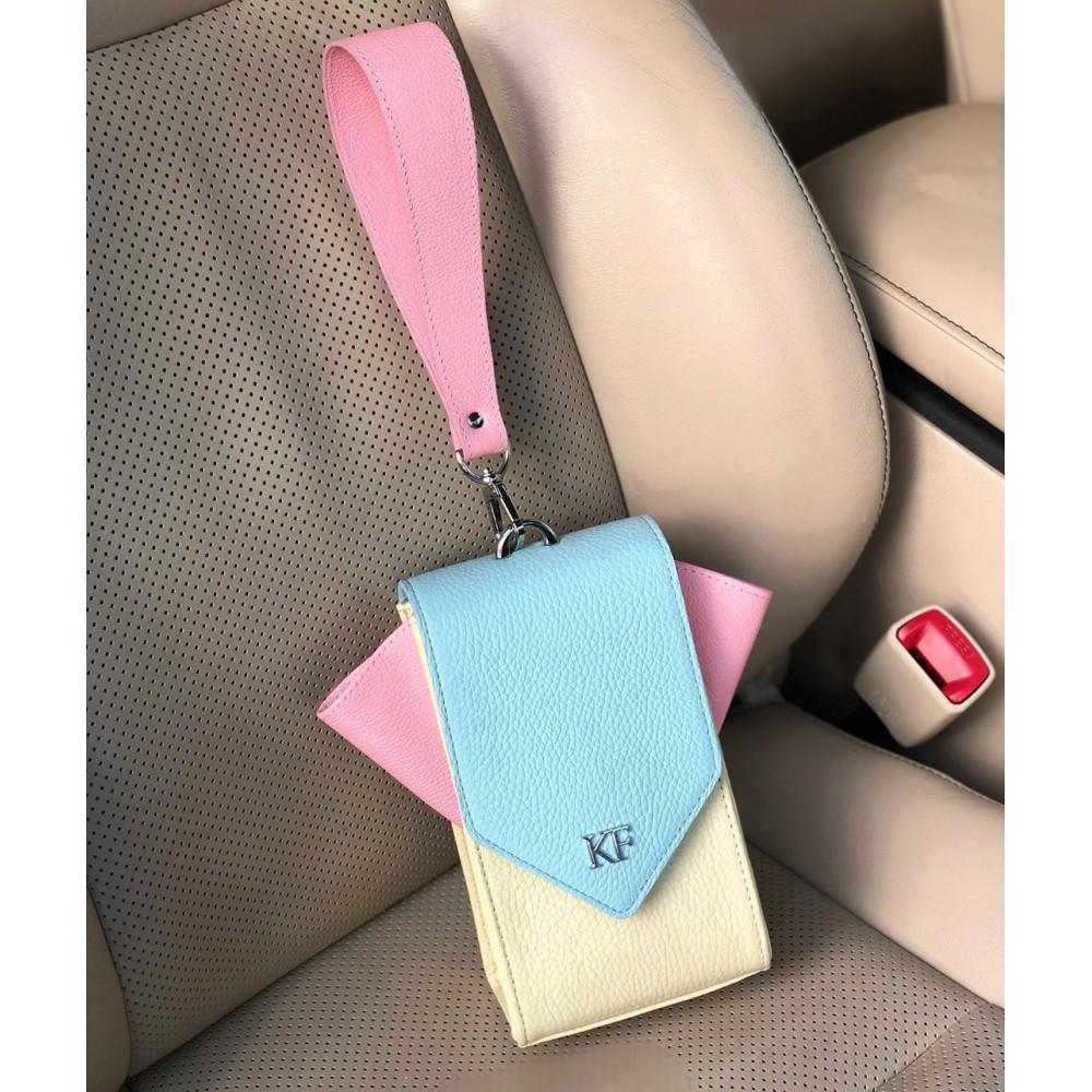 Жіноча шкіряна вертикальна сумка кросс-боді April KF-3641-7