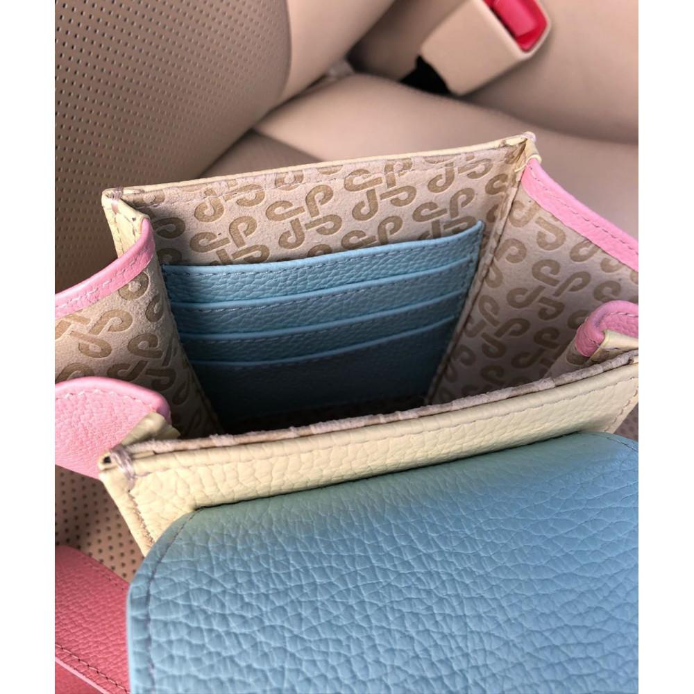 Жіноча шкіряна вертикальна сумка кросс-боді April KF-3641-8