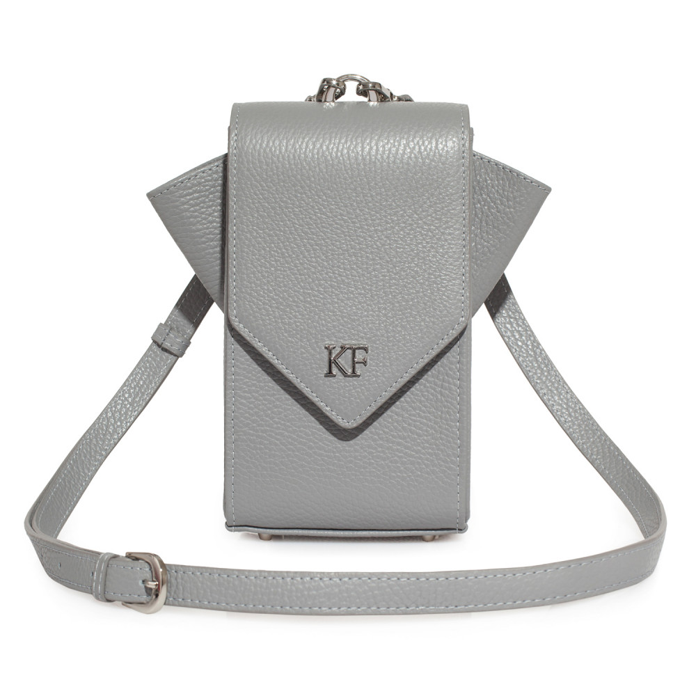 Жіноча шкіряна вертикальна сумка кросс-боді April KF-3645