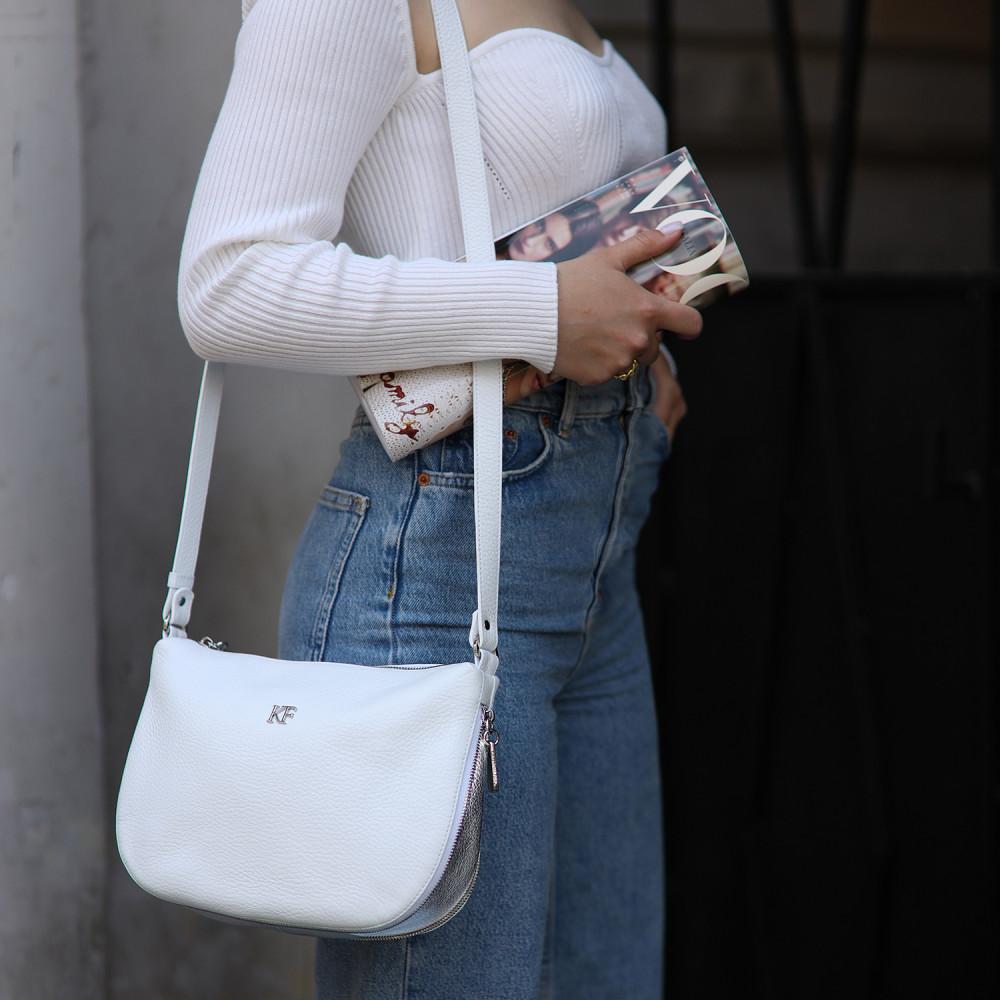 Жіноча шкіряна сумка кросс-боді Mia KF-3654