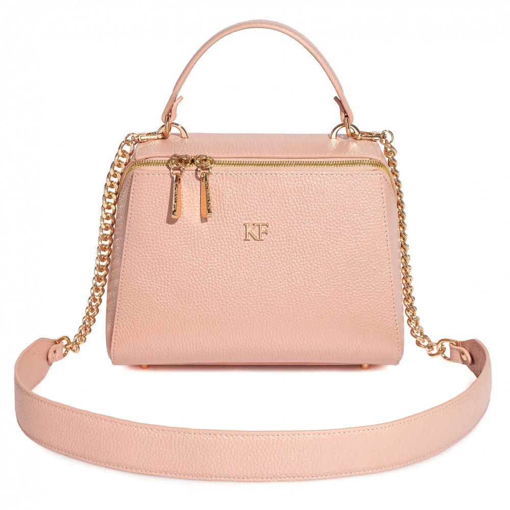 Жіноча шкіряна сумка Elegance KF-3656