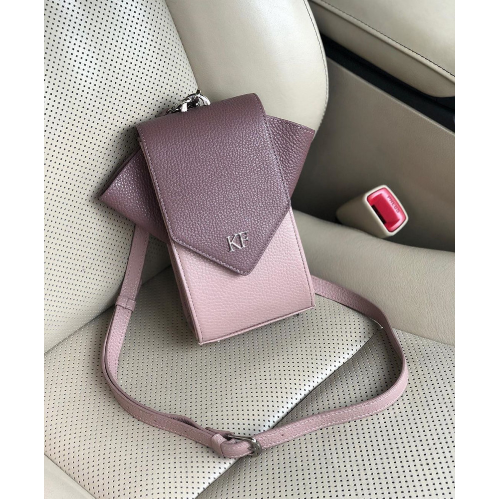 Жіноча шкіряна вертикальна сумка кросс-боді April KF-3665